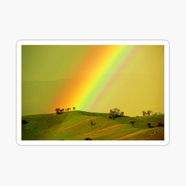 Rainbow above the Everton Hills Sticker