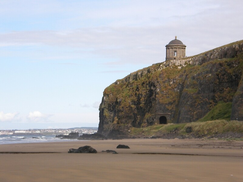 Quot Mussenden Temple With Railway Tunnel Co Derry Ireland