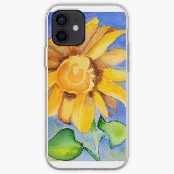 Sunflower in Blue Sky iPhone Soft Case