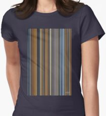 Stripes 1 Womens Fitted T-Shirt