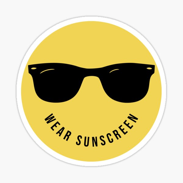 Wear Sunscreen, Wear to the Beach Sticker