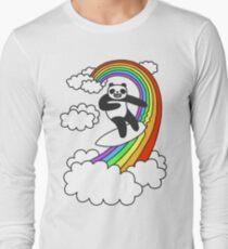 Pandas Surf Rainbows T-Shirt