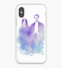 Vinilo o funda para iPhone Chloe Bennet y Brett Dalton Watercolor