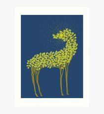 Tree horse with sunburst Art Print