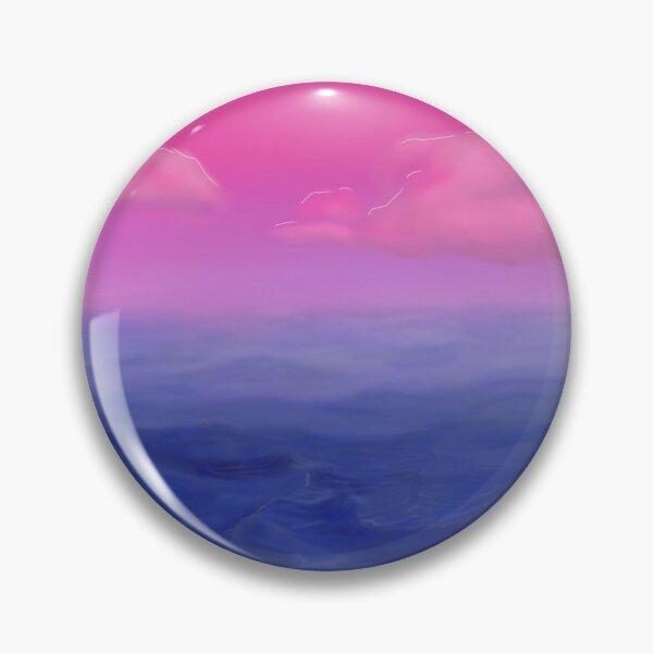 Subtle Bisexual Flag LGBT Pride Sky and Sea Pin