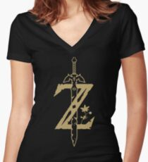 The Legend of Zelda: Breath of the Wild Women's Fitted V-Neck T-Shirt
