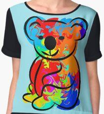 Colorful Koala Chiffon Top