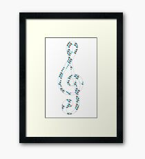 Musical repeating pattern No.2, Collection No.1 Framed Print