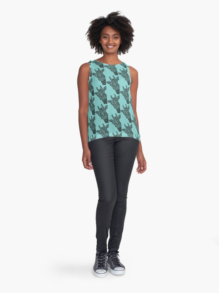 Alternate view of giraffe Sleeveless Top