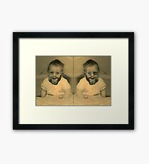 If I knew then... (Portrait of the Artist) Framed Print