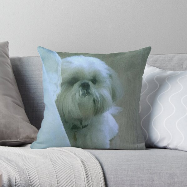 shih tzu throw pillow  Throw Pillow