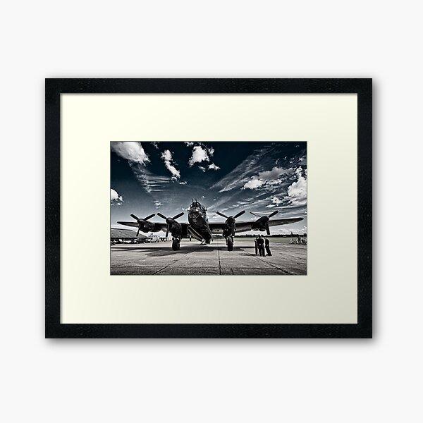 'Just Jane' Lancaster Bomber Framed Art Print
