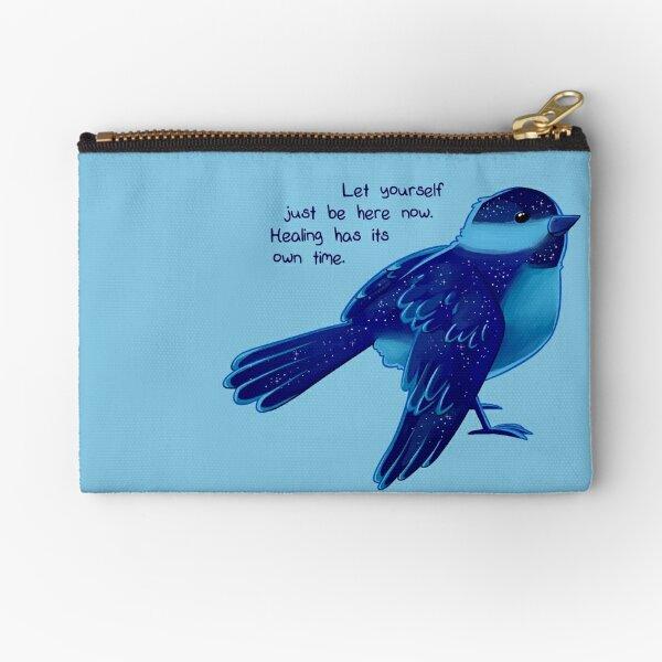 """""""Healing Has its Own Time"""" Bird Zipper Pouch"""