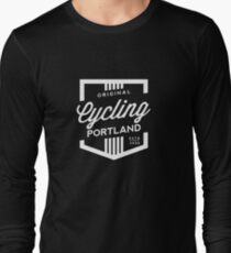 Cycling Portland Badge Long Sleeve T-Shirt