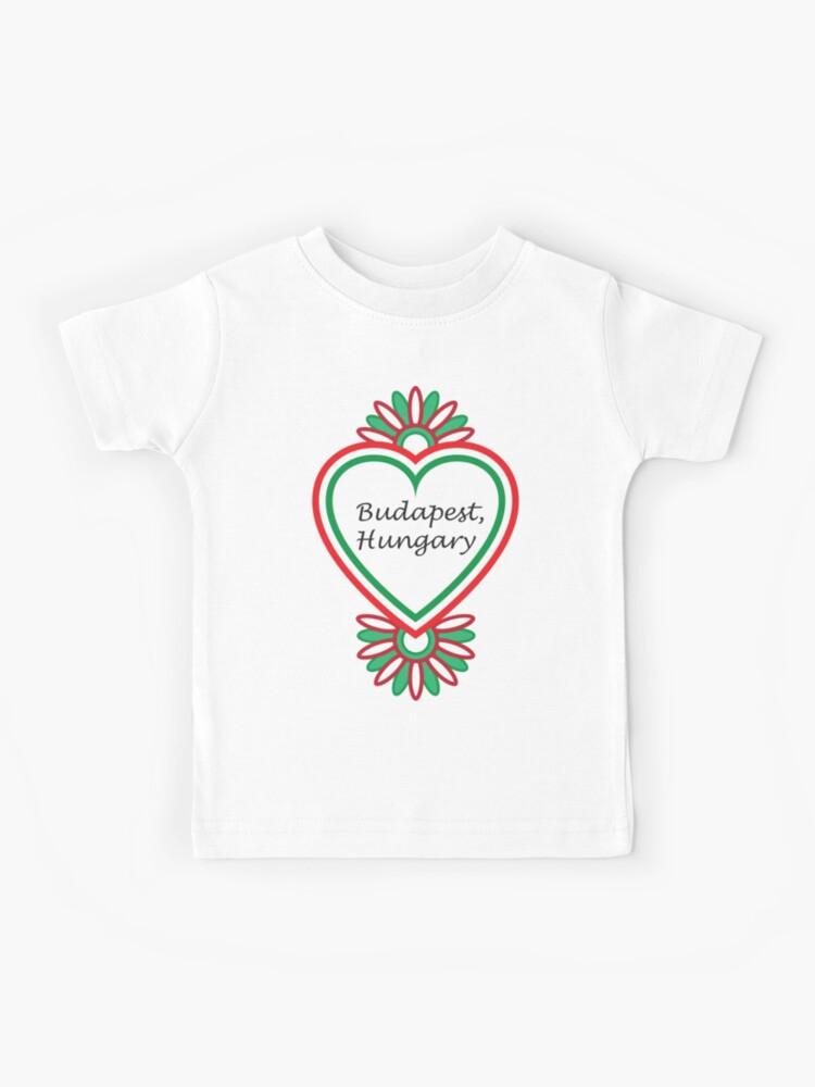 Hungary text Kids T-Shirt