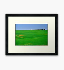 Empty landscape.  Framed Print