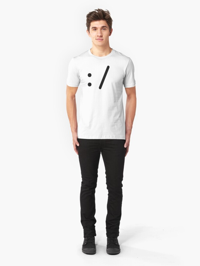 Alternate view of emoticon II - Bored - Black  Slim Fit T-Shirt