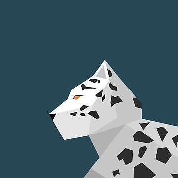 Geometric Snow Leopard by LM09