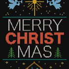 Ugly Christmas Sweater - Knit by Granny - Merry Christ Mas - Religious Christian Colorful by 26-Characters