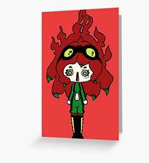 Spicy Horror by Lolita Tequila Greeting Card