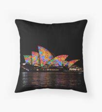 Vivid 2016 Opera House 39 Throw Pillow