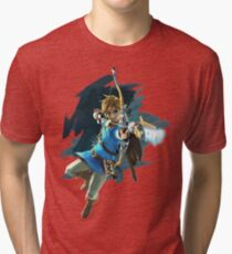 Camiseta de tejido mixto Zelda Breath of the Wild Enlace de Archer