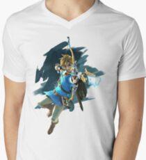 Zelda Breath of the Wild Archer Link Men's V-Neck T-Shirt
