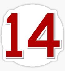 #14 Retired Sticker