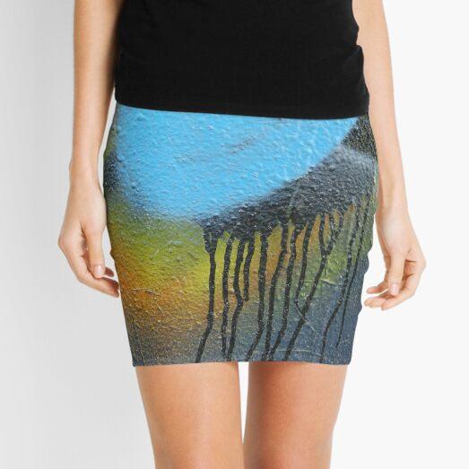 graffiti paint drip Mini Skirt