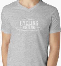Authentic Cycling Portland Mens V-Neck T-Shirt
