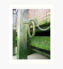 Thames Jetty, adorned with Algae Art Print