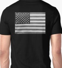 American Flag black-and-white  Unisex T-Shirt