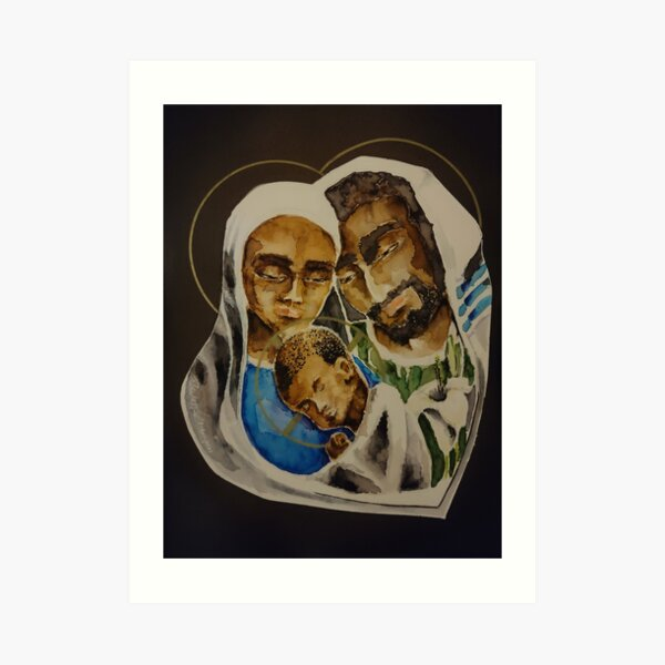 Holy Family - Under Their Mantle Art Print