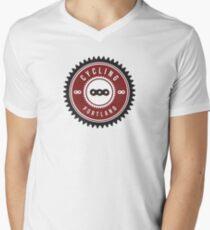 Cycling Portland Chain Ring Mens V-Neck T-Shirt