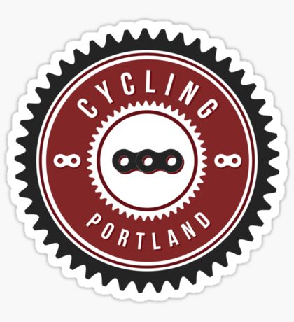 Cycling Portland Chain Ring Sticker