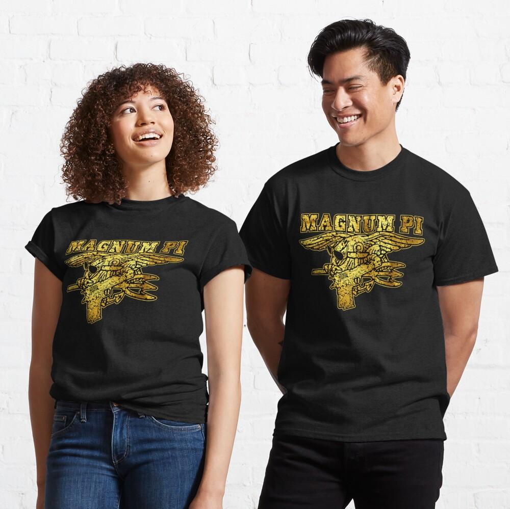 80's TV Show Magnum PI Hawaiian Spec Ops Navy Seal Trident - Gold Classic T-Shirt