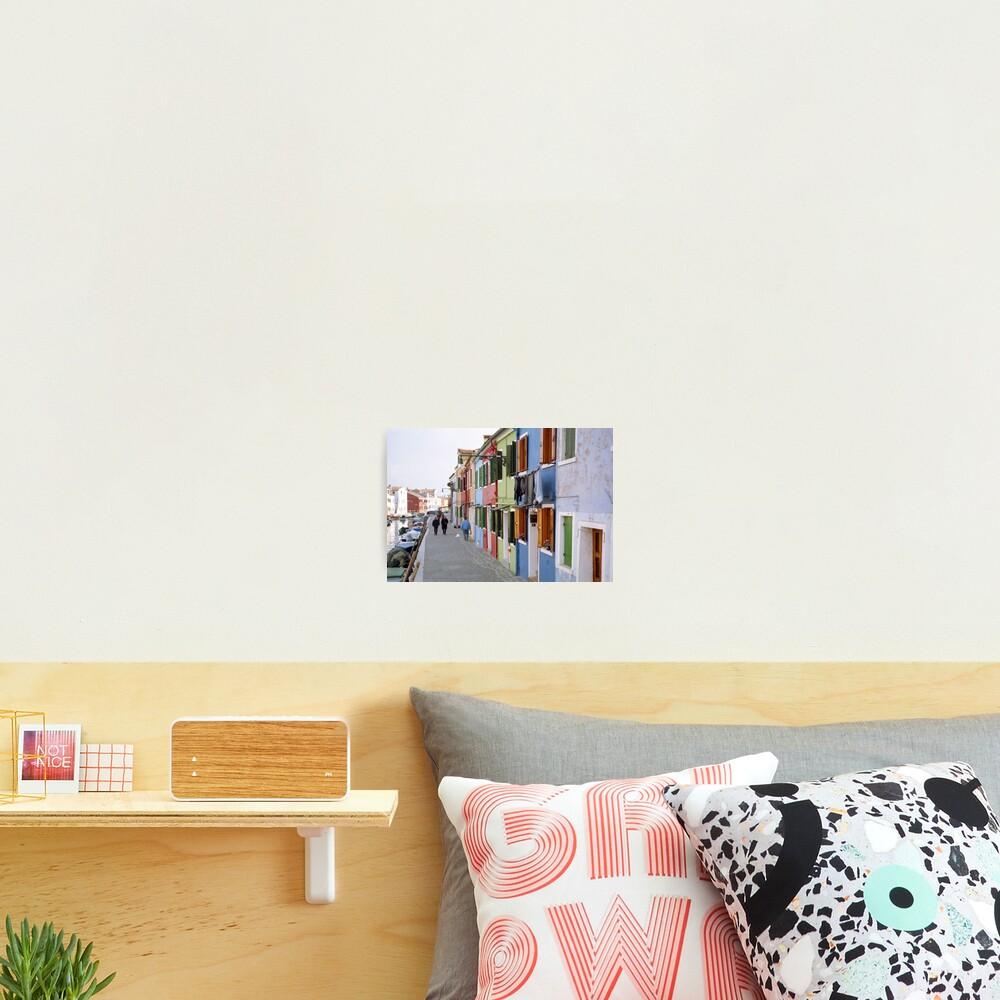 Colours of Burano Photographic Print