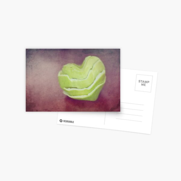 Apple Skins & Love Hearts Postcard