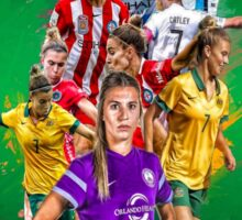 Steph Catley (From Melbourne Victory to Orlando Pride + The Matildas) Sticker
