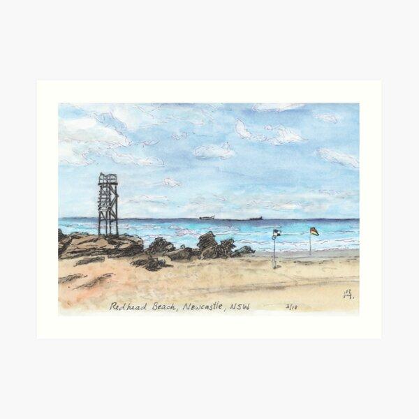Australian Scene - Redhead Beach, Newcastle, NSW, Aus. Art Print
