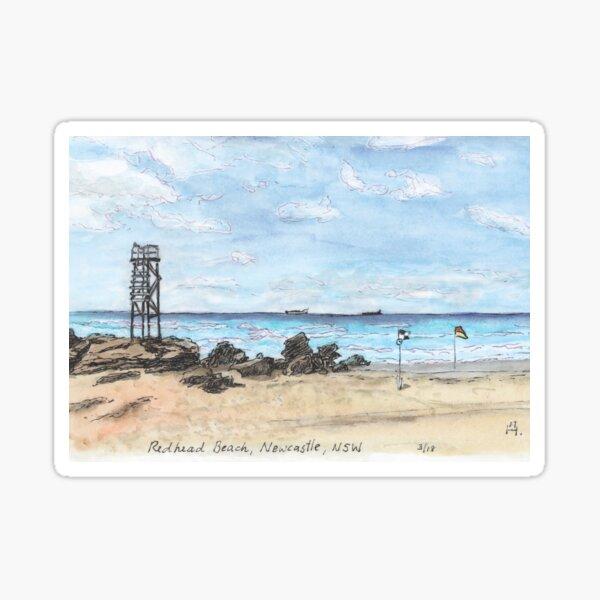 Australian Scene - Redhead Beach, Newcastle, NSW, Aus. Sticker
