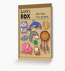 Lucky box Greeting Card
