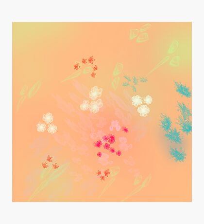 Floral life explosion - peach Photographic Print