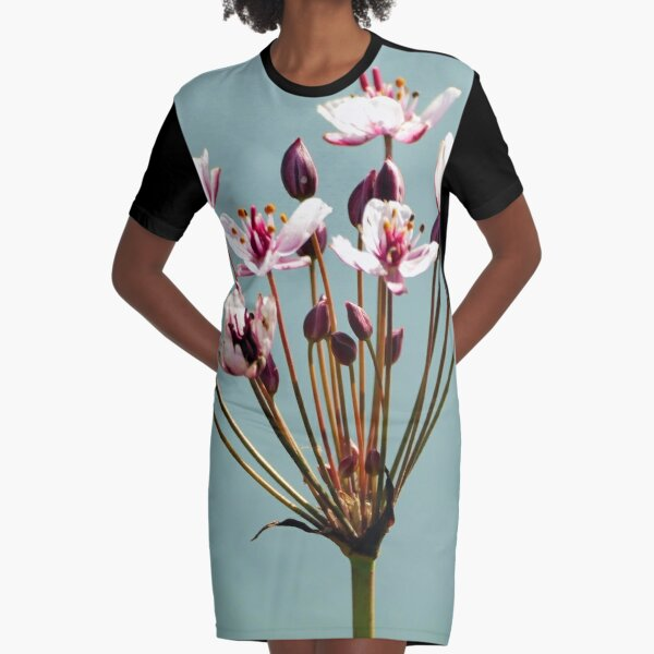 Flowers blooming, Spring Graphic T-Shirt Dress