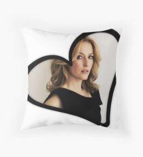 Gillian Anderson Heart Throw Pillow