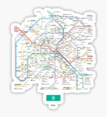 paris subway Sticker