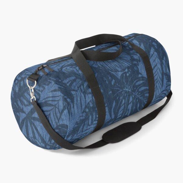 Tropical Blue Jeans Denim Pattern Duffle Bag