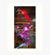 RayGun Rex , battle for the Toys Art Print