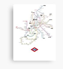 madrid subway Metal Print