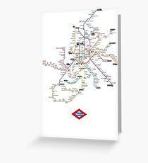 madrid subway Greeting Card